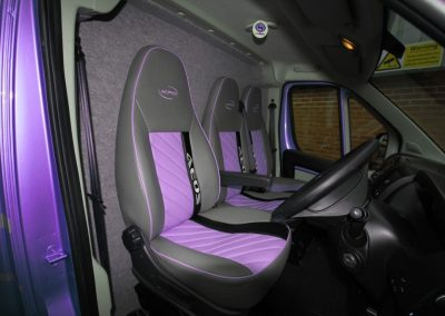 Aeos upholstery matching paintwork