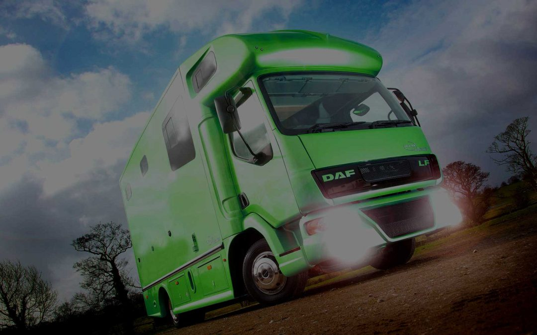 Horsebox air brakes and safety features