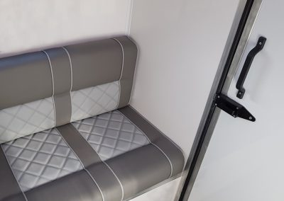 Aeos QV ST35 horsebox grooms area and seating